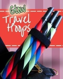 glow in the dark travel hula hoop