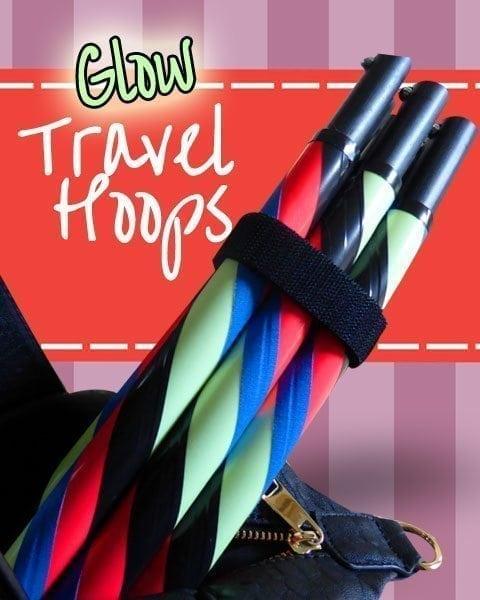 glow in the dark travel hula hoop