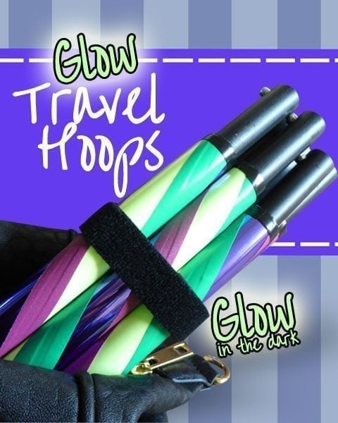 glow in the dark travel hula hoops