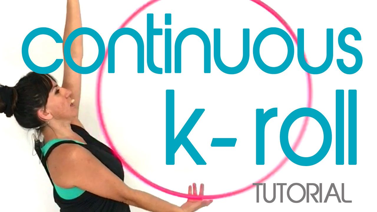 continuous k roll hula hooping trick