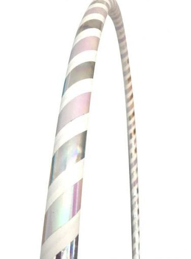 silver hula hoops