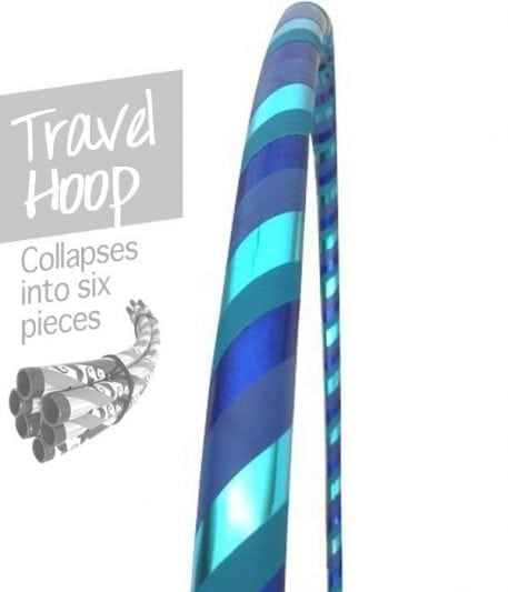 travel hula hoops, collapsible hula hoops